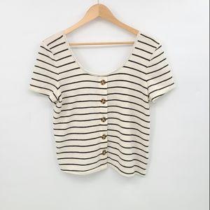Torrid Stripes Waist Length Top
